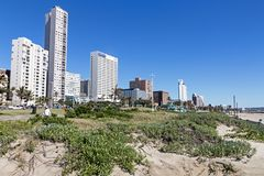 Golden Mile Beachfront in Durban South Africa Stock Photos