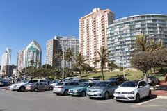 Golden Mile Beachfront in Durban South Africa Royalty Free Stock Images