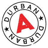 Durban stamp rubber grunge Stock Photography