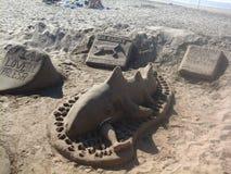Durban strandskapelser Arkivbild