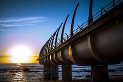 Durban Umhlanga Pier in sunrise Stock Image