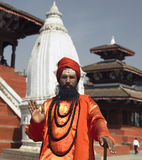 durbar加德满都尼泊尔sadhu正方形 免版税库存图片