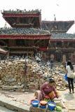 durbar加德满都尼泊尔广场 免版税图库摄影
