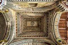 durbar大厅的屋顶Maratha宫殿的 免版税库存照片