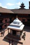 Durbar广场在Lalitpur,尼泊尔 免版税图库摄影