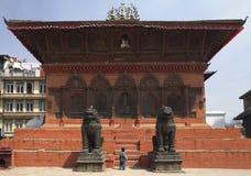 durbar房子加德满都尼泊尔方形寺庙 库存图片