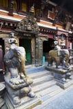 durbar金黄尼泊尔patan方形寺庙 库存照片