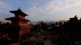 巴克塔普尔的Durbar广场在尼泊尔 股票视频