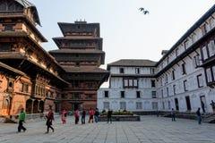 Τετραγωνικό προαύλιο μουσείων του Κατμαντού Durbar, Νεπάλ Στοκ Φωτογραφίες