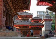 Πλατεία του Κατμαντού Durbar στο Νεπάλ Στοκ Εικόνα