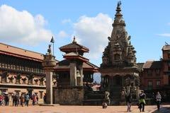 Durbar fyrkant av det Bhaktapur världskulturarvet royaltyfria foton