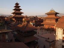 Durbar fyrkant, forntida fyrkant i Nepal Arkivbild