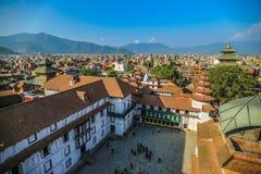 Durbar fyrkant i Kahtmandu, Nepal Arkivbild