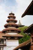 Durbar fyrkantpagoder, Katmandu Arkivfoto