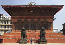 durbar huskathmandu nepal fyrkantigt tempel Fotografering för Bildbyråer