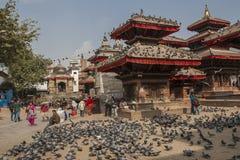 durbar kathmandu fyrkant Arkivbilder