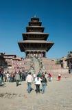 durbar kathmandu gammal pagodasfyrkant Arkivbild