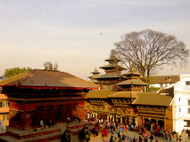 Durbar Kathmandu quadrata Nepal Immagine Stock Libera da Diritti