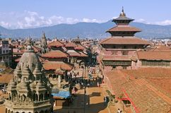 durbar nepal patan fyrkant royaltyfria bilder