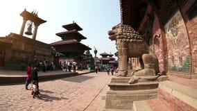 Квадрат Durbar в Patan сток-видео