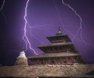 Durbar-Quadrat in der Mitte von Kathmandu Lizenzfreie Stockfotos