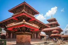 Durbar Sqare. Original architecture on the Durbar square in Kathmandu, the captial city of Nepal Stock Image