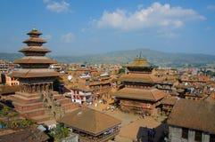 Durbar Squar, Bhaktapur, Nepal imagem de stock