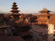 Durbar Square, ancient square in Nepal Stock Photography