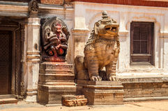At Durbar Square. In Bhaktapur Royalty Free Stock Photo