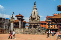 At The Durbar Square in Bhaktapur Stock Photography