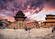 Durbar Square in Bhaktapur Stock Photo