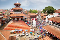 Durbar square in  Bhaktapur in Kathmandu valley, Nepal. Stock Photography