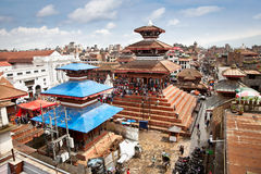 Durbar square in  Bhaktapur in Kathmandu valley, Nepal. Royalty Free Stock Image