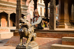 Durbar square in Bhaktapur Stock Photos