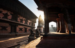 Durbar square in Bhaktapur Royalty Free Stock Image