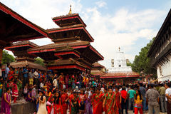 Durbar Square of Kathmandu in the festival Royalty Free Stock Photos