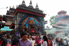 Durbar Square of Kathmandu in the festival Stock Images