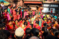 Durbar Square of Kathmandu in the festival Stock Photo