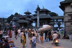 Durbar Square in Kathmandu Stock Photos