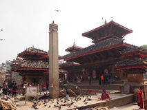 Durbar square Kathmandu. Historical  emplacement in the capital city Nepal Royalty Free Stock Photo