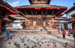 Durbar square in Kathmandu Stock Photos