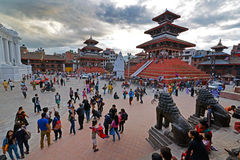 The Durbar square in Kathmandu, Nepal Stock Photography