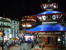 Durbar Square Kathmandu at night Royalty Free Stock Photos