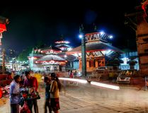 Durbar Square Kathmandu at night Stock Image
