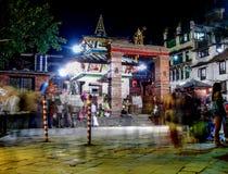 Durbar Square Kathmandu at night Stock Photos