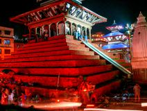 Durbar Square Kathmandu at night Royalty Free Stock Photos