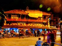 Durbar Square Kathmandu at night Stock Photo