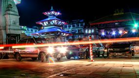 Durbar Square Kathmandu at night Royalty Free Stock Photography