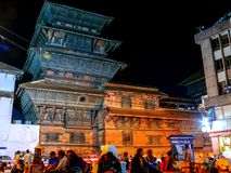 Durbar Square Kathmandu at night Royalty Free Stock Images
