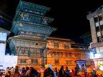 Durbar Square Kathmandu at night Royalty Free Stock Images